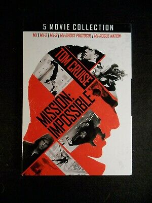 Mission Impossible: 5 Movie Collection (5 DVD's, 2018) BRAND NEW!