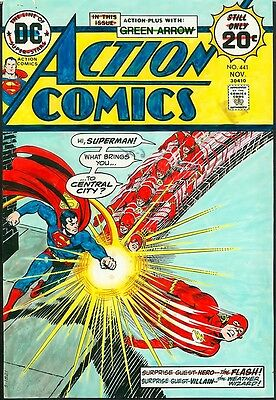 Superman vs Flash COVER PAINTED ART Action Comics 441 COLOR GUIDE Nick Cardy `74