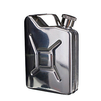 New 5oz Stainless Steel Jerry Can Hip Flask Liquor Whisky Pocket Bottle + Funnel