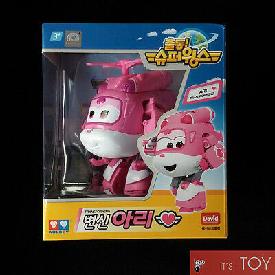 Super Wings ARI Dizzy Transforming Plane Helicopter Toy Set TV Animation Auldey