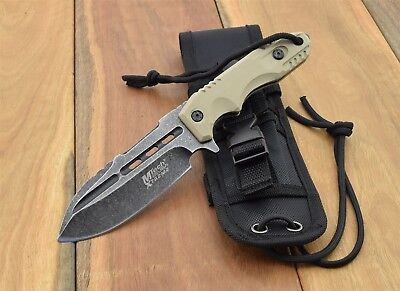 MTech USA XTREME TACTICAL Fighter FIXED BLADE KNIFE Military Knives MX-8136TN