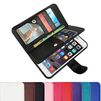 Leather Flip Case Wallet Stand Cover For Apple iPhone 7 6S 6 Plus 5C 5 4 SE 8 X