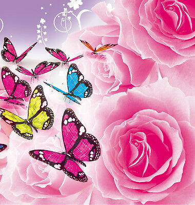 Edible Butterflies Figures Wafer Card Cupcake Toppers Decoration Card