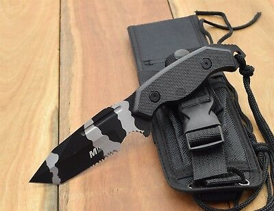 MTech USA Fixed Blade Military Style Tactical Chopper Knives Survival MT-2017TUC