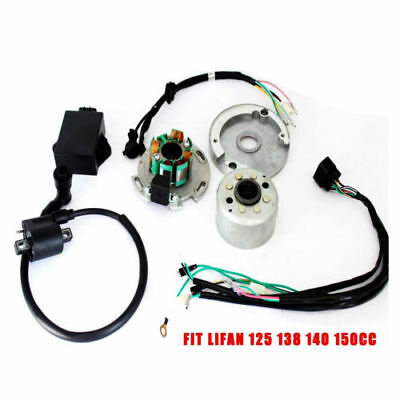 MAGNETO STATOR FLYWHEEL CDI UNIT ROTOR KIT FOR LIFAN 110-150CC Dirt/Quad/Pit