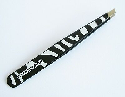 Tweezerman Limited Edition Zebra Print Slant Tip Tweezer Tweezing Hair Removal