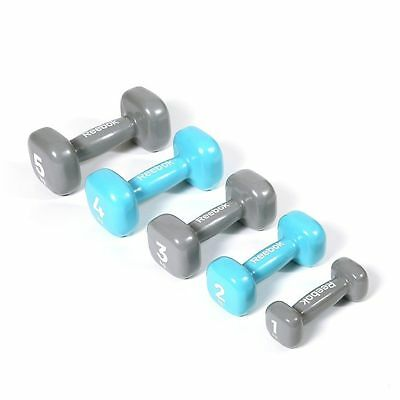 Reebok Dumbbell Womens Strength Training Vinyl Hand Weight Lifting Gym Fitness