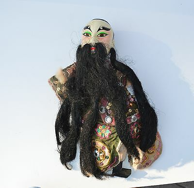Antique Beautiful Chinese/oriental Theater Opera/ Hand Puppet Doll Long Beard