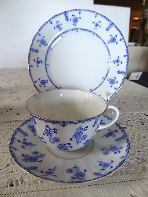 Antique Furstenberg Germania Blue & White Trio