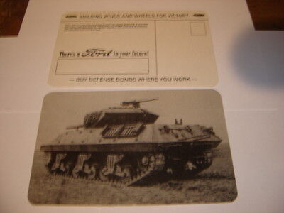 Original Wwii Ford Motor Tank Destroyer Rear View  Postcard