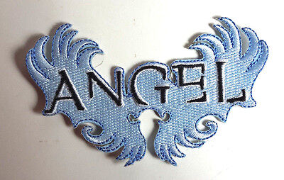 """Buffy the Vampire ANGEL 4"""" Blue Wings Logo Patch- FREE S&H  (DMPA-69)"""