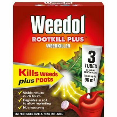 Weedol Rootkill Plus 3 Tubes For Weeds
