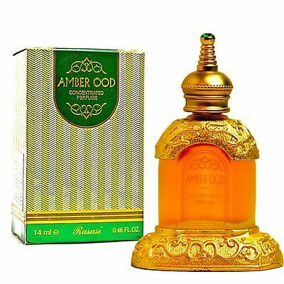 Amber Oudh/ Ood 14ml Excellent perfume/Attar/Ittar oil Oriental Exotic by Rasasi