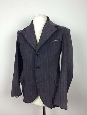 Vtg French Work Chore Sack Coat Boro Wool Jacket Blazer Workwear Hobo Japanese