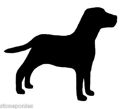 Labrador Retriever Dog Profile Silhouette Window Decal Black on Clear Sticker