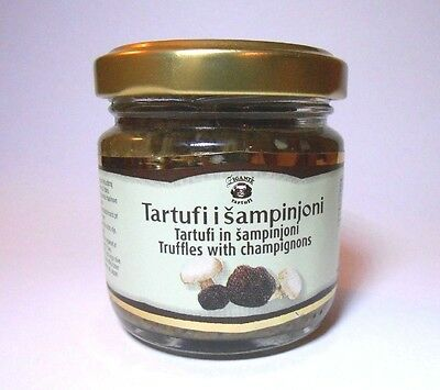 Gourmet Black Truffles with Champignons Minced in Extra Virgin Olive Oil 80grams