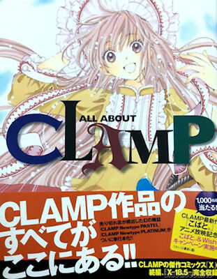 New ALL ABOUT CLAMP Japan Art Book Kobato Cardcaptor Sakura Chobit X Anime Manga