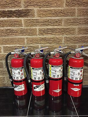 Set of 4 FIRE EXTINGUISHER 5lb 5# ABC NEW CERT TAG  (Nice)