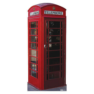 ENGLISH PHONE BOOTH British Call Box CARDBOARD CUTOUT Standee Standup Prop