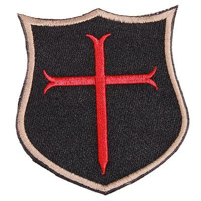 New Unisex 3D Cross Crusader Shield Rubber Tactical SEAL Morale Patch B