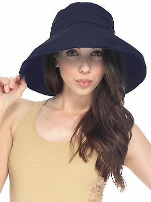 Women's Anti-UV Fashion Wide Brim Summer Beach Cotton Sun Bucket Hat