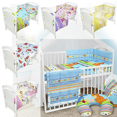 BABY BEDDING SET 135x100 2 3 4 5 6 PCS Baby Bedding Set Fit Cot Bed NEW DESIGNS!