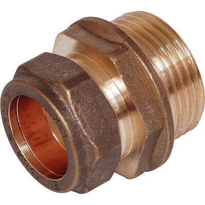 NEW BRASS plumbing pipe compression adaptor to Male BSP thread. U choose size