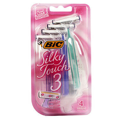 BIC Silky Touch 3 Disposable Shaver, 4-Count