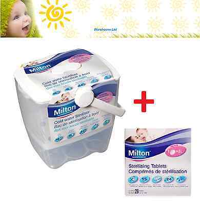Milton COLD WATER STERILISER Add Milton Tablets 28's
