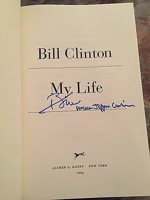 """William Jefferson Clinton Bill Signed Autograph """"My Life"""" First Edition Book 1/1"""