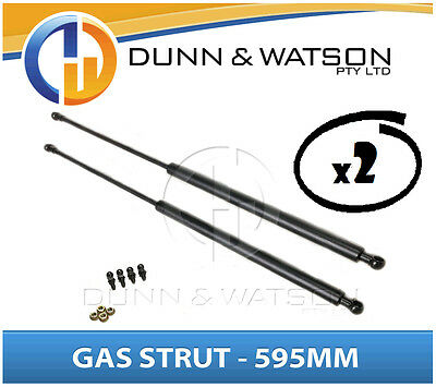 Gas Strut 595mm-500n x2 (8mm Shaft) Caravans, Camper Trailers, Canopy, Toolboxes