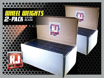 2-9 LB Boxes Black Wheel Weights 1/2 oz. Stick On Adhesive Tape 576 Pieces