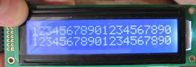 ZYSCOM_EUR LCD Display HD44780 2x20 chr 20x2 BLUE FSTN NEGATIVE Backlight