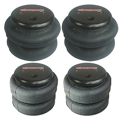 Four Air Bags, 2 - 2500 and 2 - 2600 Front & Rear Suspension Air Ride Lift Lower
