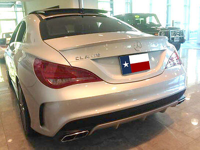 Fits: Mercedes Benz CLA 2014+ Lip Mount Factory Style Rear Spoiler Painted