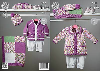 KINGCOLE 4224 BABY chunky  KNITTING PATTERN  18-24IN -not the finished garments