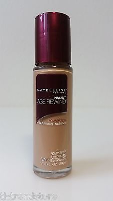 Maybelline Instant Age Rewind Cream Make Up Foundation Sandy Beige Medium 1 Neu