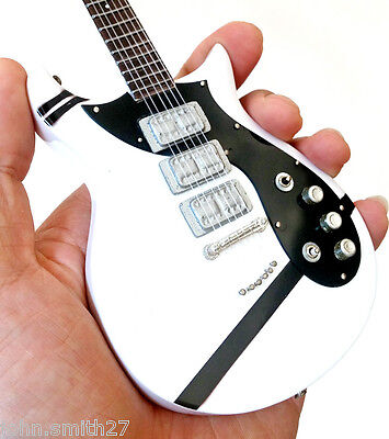 "Miniature Guitar Fall Out Boy Patrick Stump White ""I Don't Care"" FOB Signature"