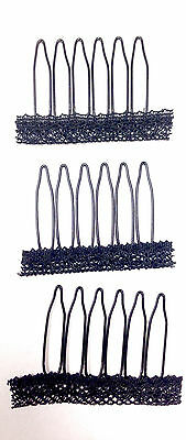 (US Seller) Spring Wig Clips Combs Lace Glueless Sew in Clip Wired 6 Teeth Comb
