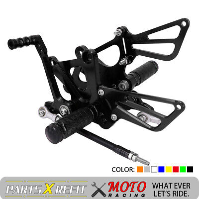 Adjustable Rearsets Foot Pegs Rear Sets For Honda NSF100 NSR50 All Years Black