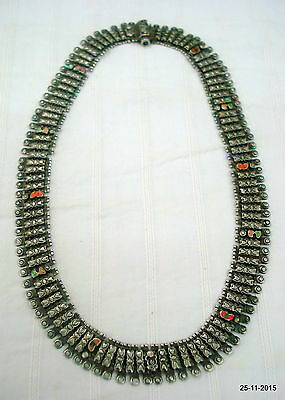 vintage antique ethnic tribal old silver necklace traditional handmade jewelry