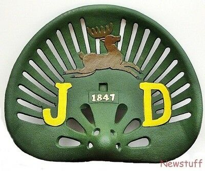 Old Reproduction John Deere Cast Iron Metal Steel Tractor Implement Seat Antiqu