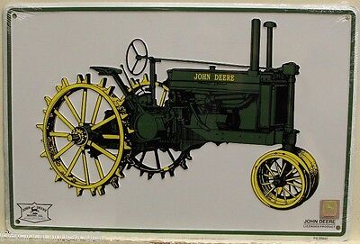 JOHN DEERE metal sign Tractor model A-G vintage tractor farm equipment logo
