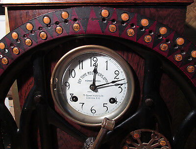 Dey Dial Recorder INTERNATIONAL TIME RECORDER Punch Card Clock ITR c1912 Works