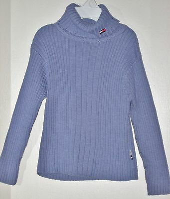 TOMMY HILFIGER Girls Size M Purple Cable Knit Turtle Neck Pullover Sweater
