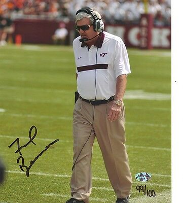 Frank Beamer Virginia Tech Hokies Photo 2 8X10 Signed Greatest Coach Ever