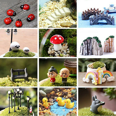 Garden Ornament DIY Resin Craft Miniature Animal Plant Pot Fairy Dollhouse Decor