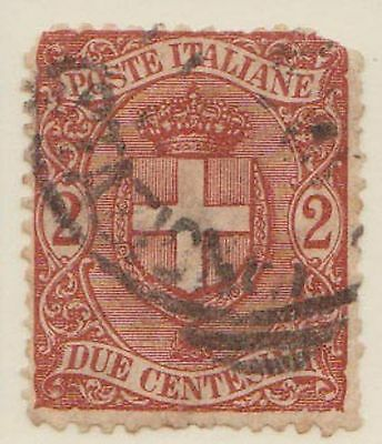 (ZN-9) 1896 Italy 2c arms of Savoy