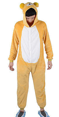 Hot New Unisex Adult Kigurumi Pajamas Rilakkuma Cosplay Costume Sleepwear