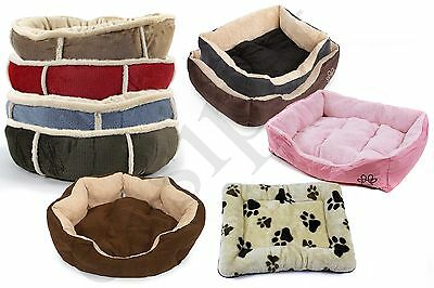 Pet Puppy Cat Dog Bed Cushion Mat Basket Warm Comfy Lining Washable Nest Easipet